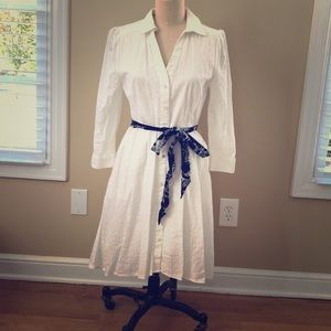 Moulinette Soeurs shirt dress w/belt and pockets